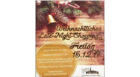 Late-Night-Shopping in Ascheberg