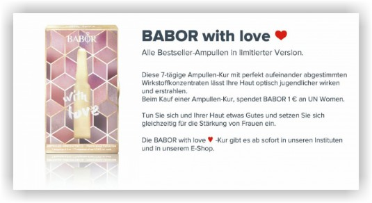 InStyle-Kosmetik: BABOR with love